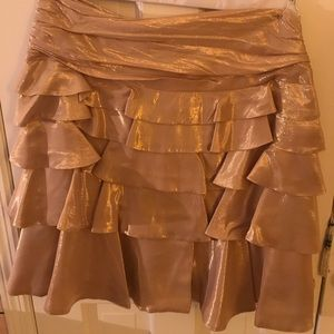 Gold Metallic Polo RL skirt